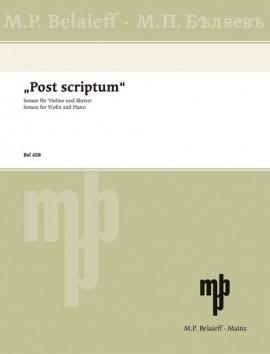 """""""Post scriptum"""""""